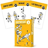 BODYWEIGHT VOL. 2 Exercise Cards Home Gym Workout Personal Trainer Fitness Program Guide Tones Core...