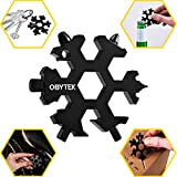 Obytek 19-in-1 Titanium Steel Snowflake Multi Tool - EDC Multitool Keychain for Men - Portable Multi-Tool - Adventure Tool Combination - Wrench - Bottle Opener - Screwdriver - Gift Idea for Him …