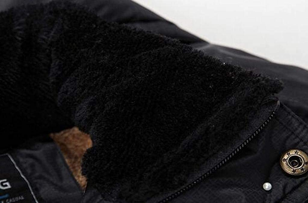Fubotevic Mens Winter Faux Fur Lined Hoodie Warm Thicker Down Quilted Jacket Coat