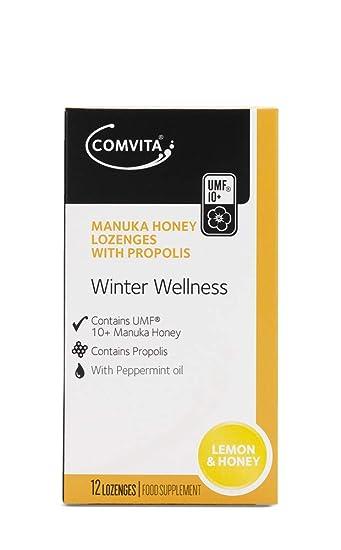 Pacific Resources International Manuka Honey Lozenges with Propolis UMF  10+, Soothing Lemon & Honey,