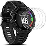 Screen Protector for Garmin Forerunner 735XT, AFUNTA 3 Pack Tempered Glass Film Anti-Scratch High Definition Shield