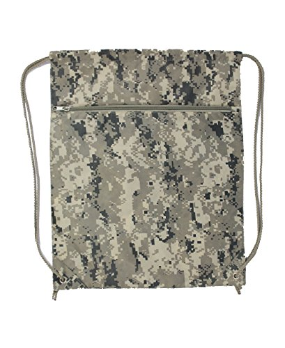 Xtitix Amy Military Drawstring Digital Camouflage Tote Backpack Bag/Sack Camo