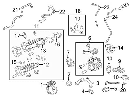 Excellent Amazon Com Ford 2011 2015 6 7L Powerstroke Exhaust Pipe To Egr Wiring Database Aboleterrageneticorg