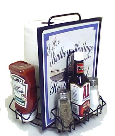 MACH-1  Case of 8  Commercial Restaurant Menu & Condiments Holder/Caddie FOR PAPER TOWELS - Thick Industrial Wire - Powdercoated Black Finish. Lasts forever! Type MenuCoverMan in Amazon search.