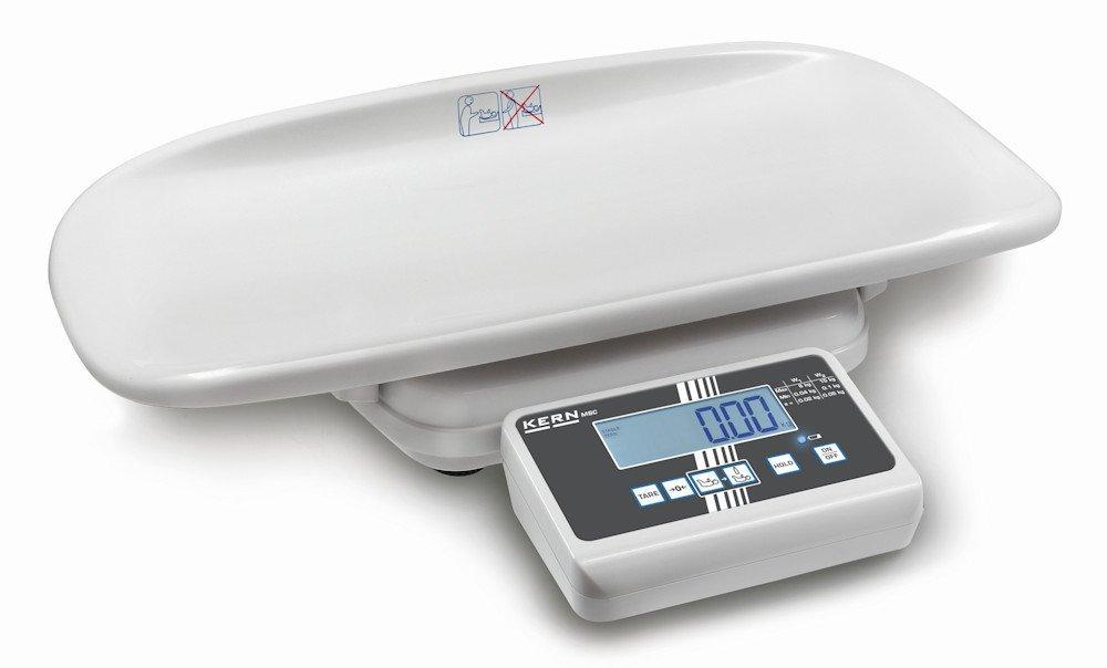 Elegante báscula para bebés con aprobación de homologación y médica [Kern MBC 15K2DM] , Campo de pesaje [Max]: 6 kg / 15 kg, Lectura [d]: 2 g / 5 g: ...