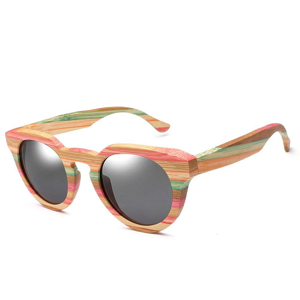 MUMUWU Wood Fashion Bamboo Glasses Cat Eye Polarized Sunglasses Sunglasses