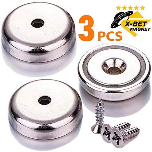 Extremely Strong Neodymium Cup Magnets - 90 lbs Holding Force - 1.26