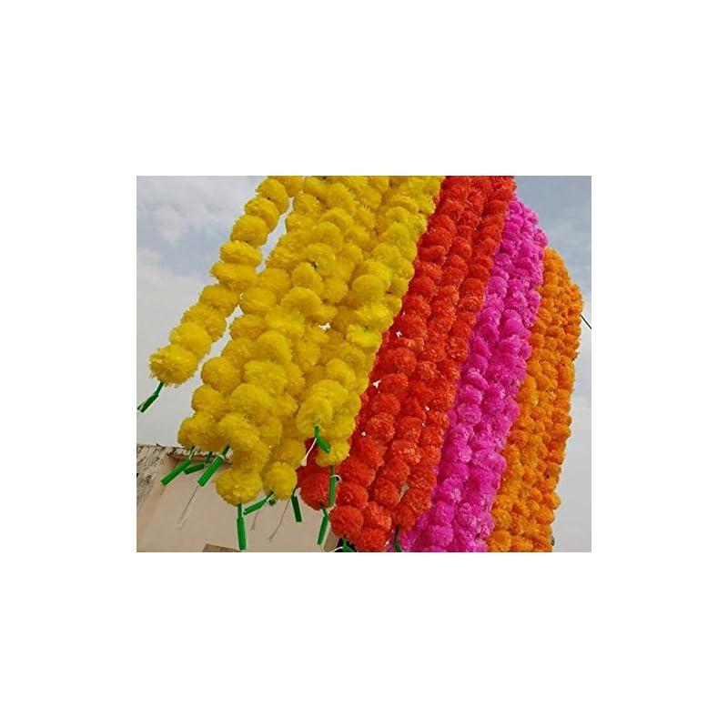 silk flower arrangements worldoftextile assorted 50 pieces of flower strings torans flower garland lines marigold mango flower strings artificial blossom indian partydecore mix