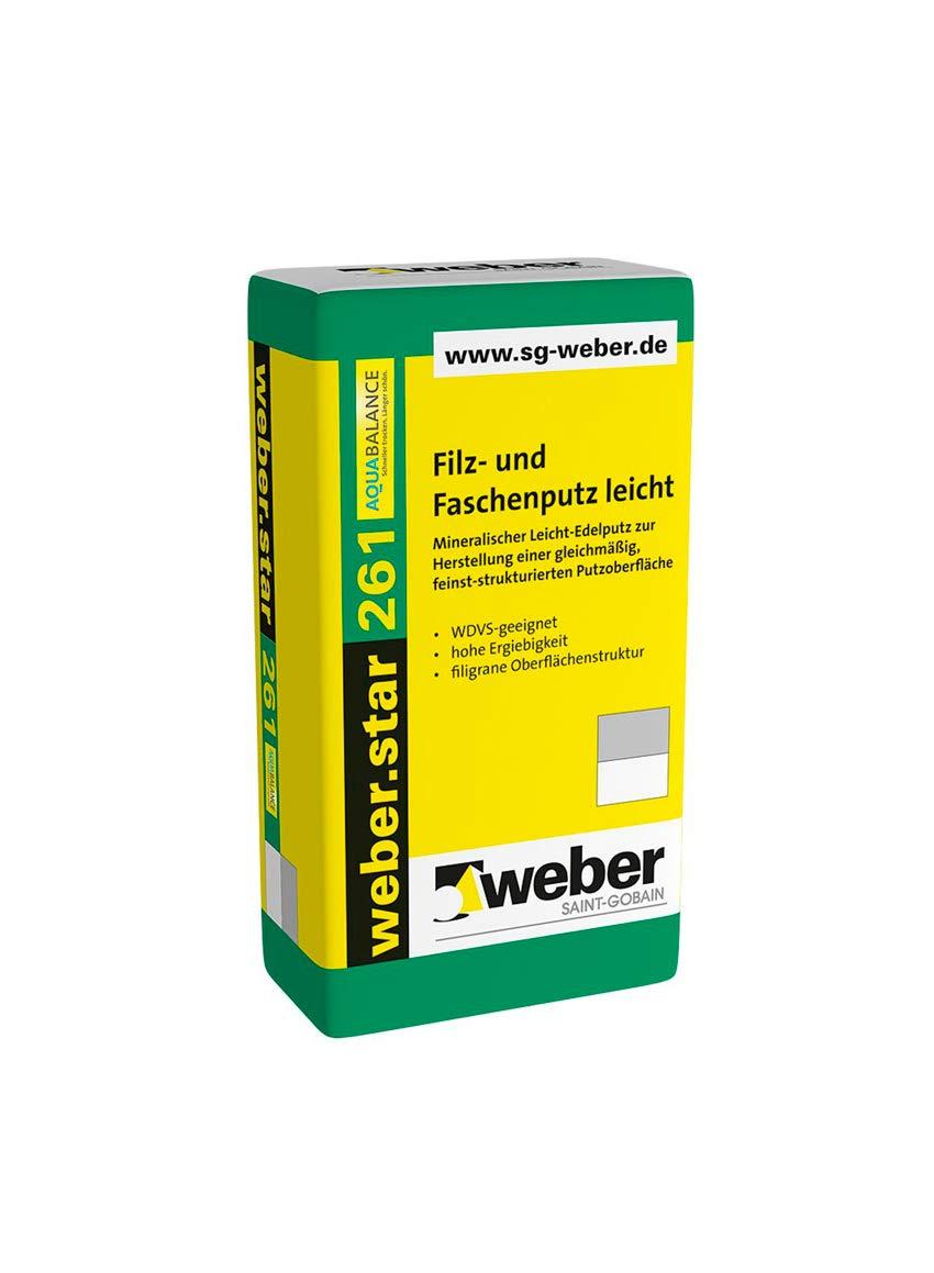 weber.star 261 AquaBalance Filz und Faschenputz 0,5 mm 30 kg leicht Oberputz Filzputz Au/ßenputz Fassade