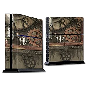MightySkins Skin Compatible with Sony PS4 Console – Steam Punk Room | Protective, Durable, and Unique Vinyl Decal wrap…