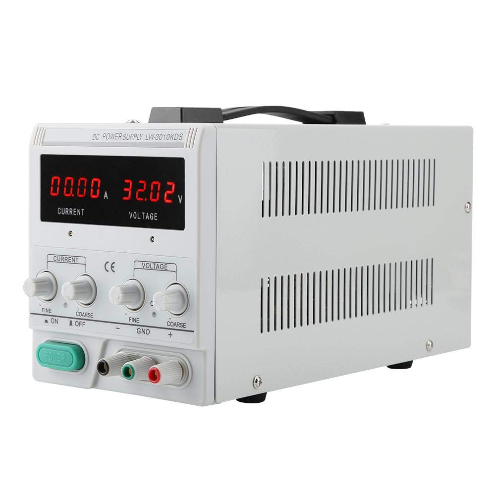 Multi-Function Digital Power Supply,LW-3010KDS 4LED 30V 10A DC Power Supply Switching,High Efficiency Stronger Load Ability for Scientific Research Universities Laboratories(US Plug 110V) by Focket