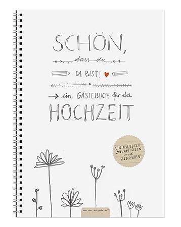 Hochzeitsgastebuch Schon Dass Du Da Bist Mit Fragen Zum Malen