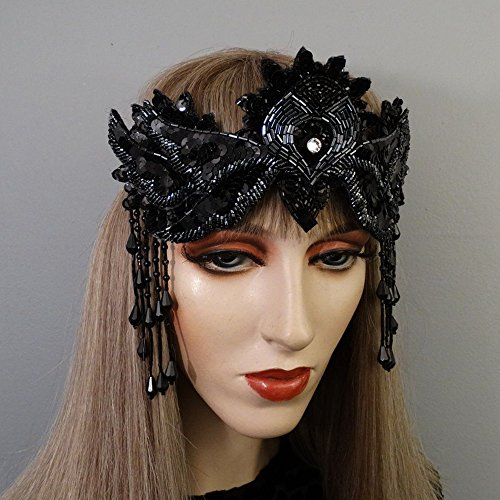 [Desdemona Black Crown Headband] (Desdemona Costume)