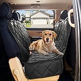 B-comfort Dog Car Seat Covers-Dog Car Hammock-Car Seat Cover For Dogs-Seat Covers For Trucks-SUV-Backseat Dog Hammock-Car Seat Protector For Dogs-Back Seat Cover For Dogs-Pet Seat Cover-Black-54x58