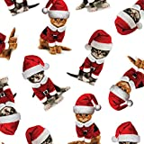"Kitty Christmas Wrapping Paper Roll 24"" X 15'"