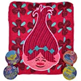 Trolls Christmas Gift Bundle - Dreamworks Trolls Expanding Magic Towels (Set of 4 Various Characters)