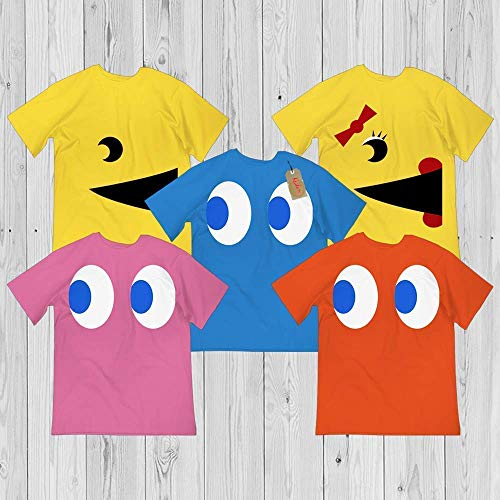 Pac Ghost Man Face Character 90s Gaming