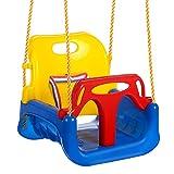 3-in-1 Infant to Toddler Upgrade Swing Anti-flip Snug Secure Detachable Children Outdoor Equipment (Blue)
