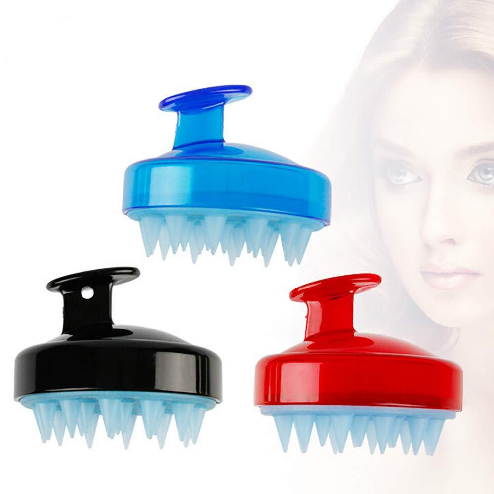 sunnymi Short Hair Fur Grooming Silicone Shampoo Scalp Shower Body Washing Hair Massage Brush Comb B