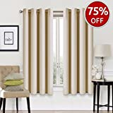 #9: Blackout Curtains 2 Panels Set Room Darkening Drapes Thermal Insulated Solid Grommets Window Treatment Pair for Bedroom, Nursery, Living Room,W52xL63 inch,Beige