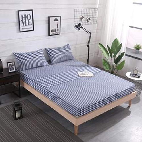 FUOUKU Ultra-Soft 400-Thread Count Cotton Grey Lattice Bed Sheets Mattress Cover Bedspreads Pillowcase