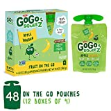 GoGo squeeZ Applesauce on the Go, Apple Banana, 3.2 Ounce (48 Pouches), Gluten Free, Vegan Friendly, Healthy Snacks, Unsweetened Applesauce, Recloseable, BPA Free Pouches