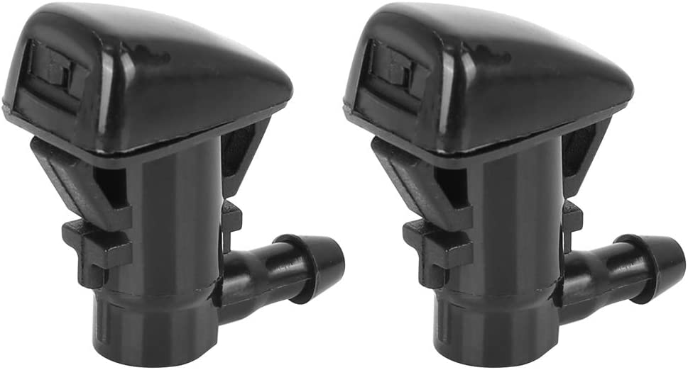 X AUTOHAUX 2pcs 68260443AA Windshield Washer Sprayer Nozzle Single Hole Replacement for 11-18 Jeep Grand Cherokee