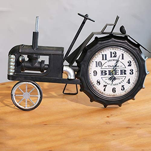 芸術的なクリエイティブレトロ錬鉄機関車時計リビングルームの装飾装飾事務机クロック 作りがいい