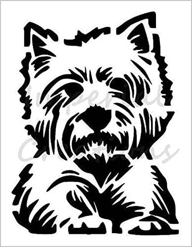 Westie dog breed face west highland 8 5 x 11 stencil 20 mil plastic sheet new s131 - Imperial westies ...