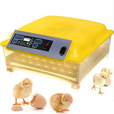 New Egg Incubator Hatcher 48 Digital Clear Temperature Control Automatic Turning LED Screen Hatch Chicken, Dove, Quail or Other Little Fertile Bird , Duck ,Goose Turkey Eggs Are Also Applicable by Omega Trading Group