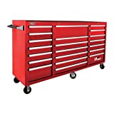 Homak H2PRO RD04021720 72-Inch  Series 21 Drawer Rolling Cabinet, Red