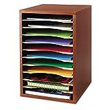 Safco Wood Vertical Desktop Literature Sorter, 11 Sections, Cherry (SAF9419CY) ;#G344T3486G 34BG82G5250