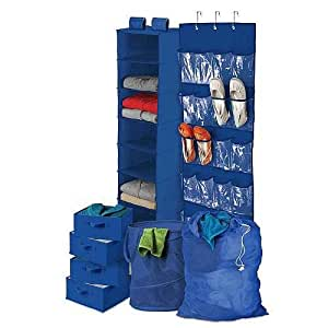 Honey-Can-Do BTS-01587 Back To School Home Organization Kit, Blue