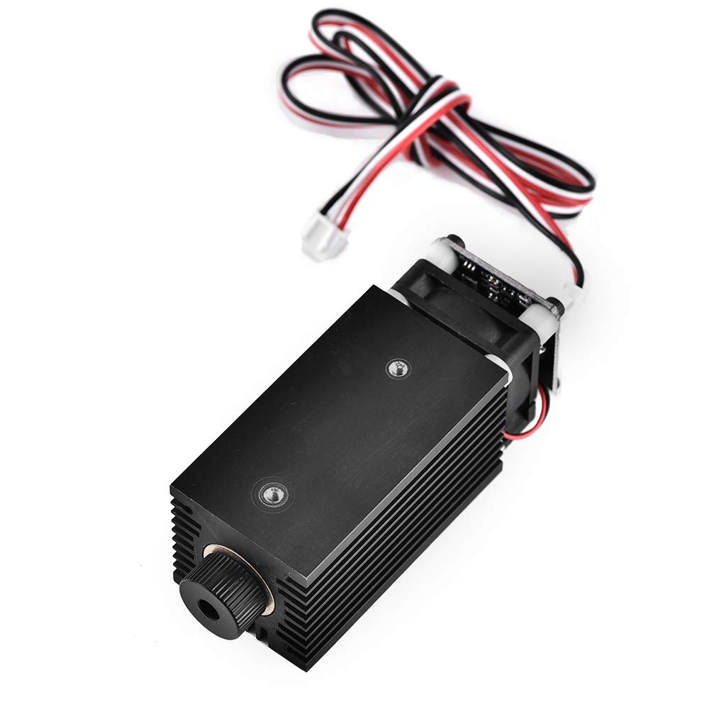 S SMAUTOP DIY M/áquina de grabado l/áser con gafas PWM Control Bblue Laser Mmodule DC 12V Longitud focal L/áser l/áser ajustable 5.5W