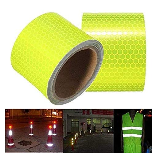 Gwill 2 Roll Conspicuity Yellow Diamond Fluorescent Reflective Tape ECE 104...