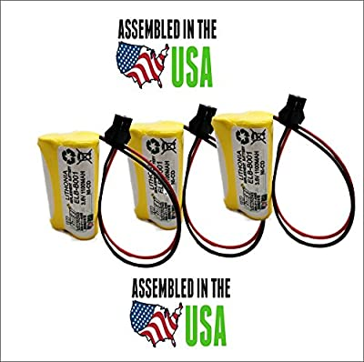 3pc Lithonia ELB B001 Replacement Emergency Light Battery