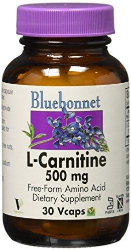 Bluebonnet Kosher Amino Acid - Bluebonnet L-Carnitine 500 mg Vitamin Capsules, 30 Count