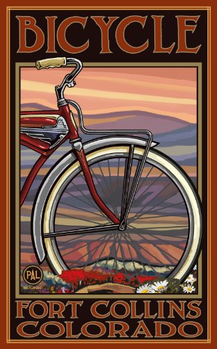 Northwest Art Mall Fort Collins Colorado Old Half Bike Artwork by Paul A Lanquist, 11-Inch by - Mall Collins Fort
