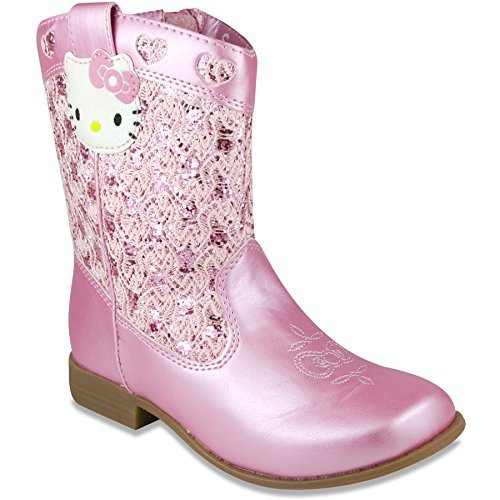 Hello Kitty Girls Trixie Western Boot Pink 13 M US -