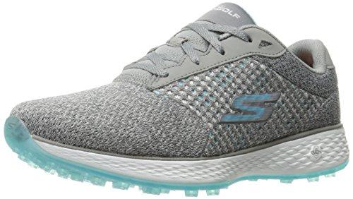 Skechers Performance Women's Go Golf Birdie Scramble Golf Shoe, Gray/Blue Knit, 9 M US