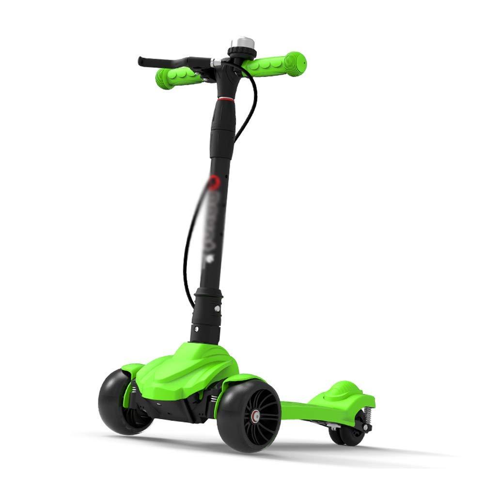 CMXIA con Il Freno a Mano   Scooter Pieghevole Scooter a Tre Ruote Scooter a 3-12 Anni Ragazzo e Ragazza, Una varietà di Colorei tra Cui Scegliere ( Colore   verde )