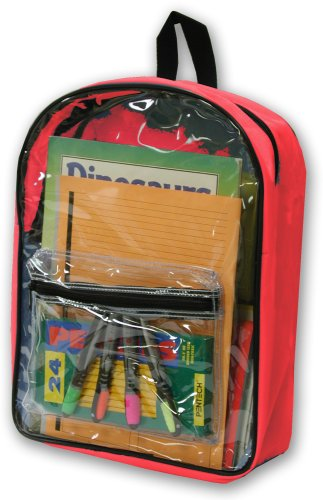 Clear PVC Backpack by Ensign Peak (Red)