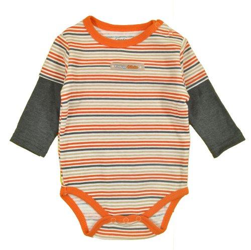 Calvin Klein Baby-Boys Newborn 2-Fer Bodysuit With Pants And Bib, Orange, 0/3 Months