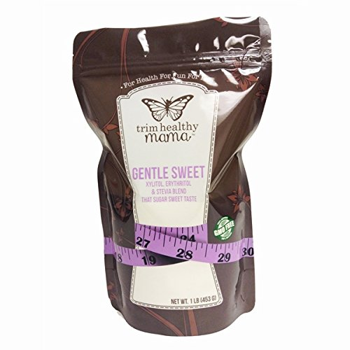 Trim Healthy Mama Gentle Sweet. Non-GMO (Xylitol, Erythritol & Stevia Blend) 1Pound