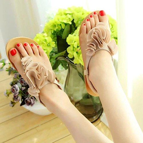 dolce scarpe da Sandali beige Amlaiworld Boemia estate fiore spiaggia Donne AggwqnxW