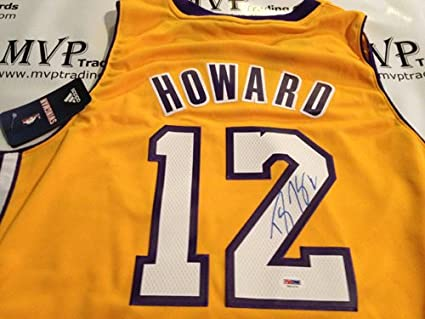 89df07716 PSA DNA Authentic Dwight Howard Autograph Los Angeles Lakers Gold Jersey
