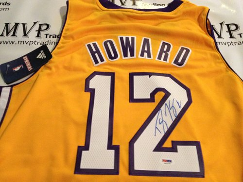PSA/DNA Authentic Dwight Howard Autograph Los Angeles Lakers Gold Jersey