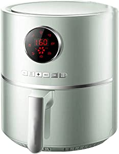 hongyang 4.2-Quart Digital Air Fryer with One-Touch Digital Controls 8 Easy presets, Precise Temperature Control Wattage Control PREHEAT & REHEAT Function