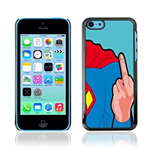 CaseCaptain Carcasa Funda Case - Apple iPhone 5C / Funny Superhero Man Flips /