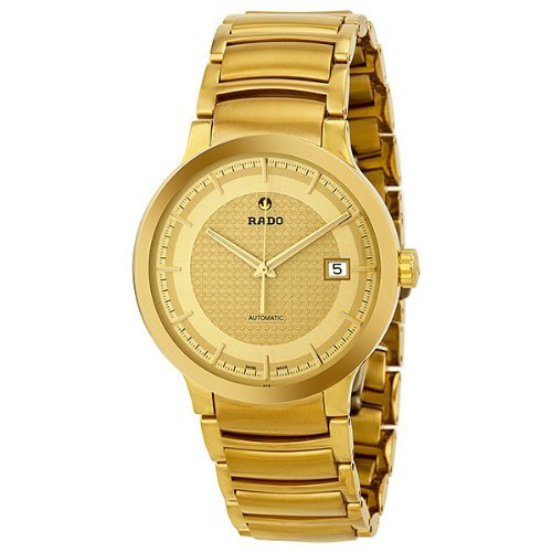 Rado-Centrix-Automatic-Gold-Dial-Yellow-Gold-Plated-Mens-Watch-R30279253